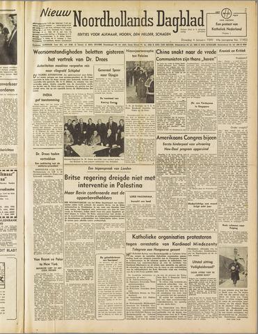 Nieuw Noordhollandsch Dagblad : voor Alkmaar en omgeving 1949-01-04
