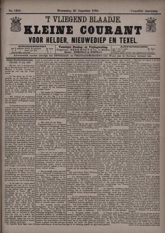 Vliegend blaadje : nieuws- en advertentiebode voor Den Helder 1884-08-20