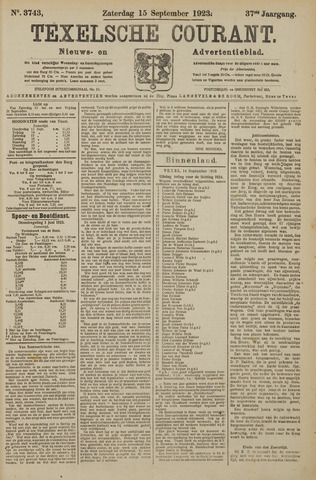 Texelsche Courant 1923-09-15