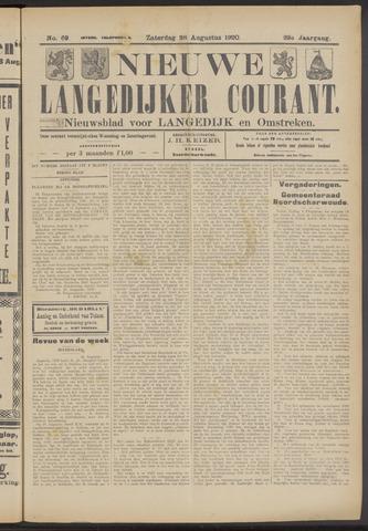 Nieuwe Langedijker Courant 1920-08-28