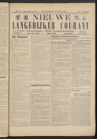 Nieuwe Langedijker Courant 1931-07-23