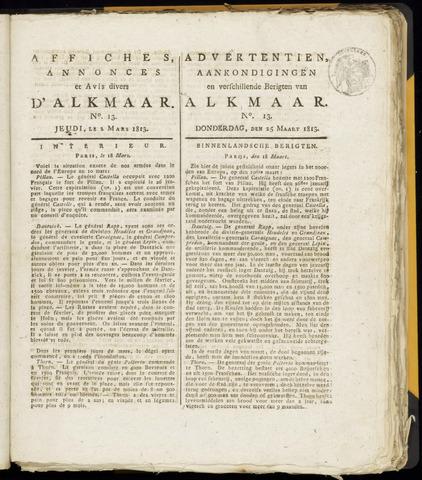 Alkmaarsche Courant 1813-03-25