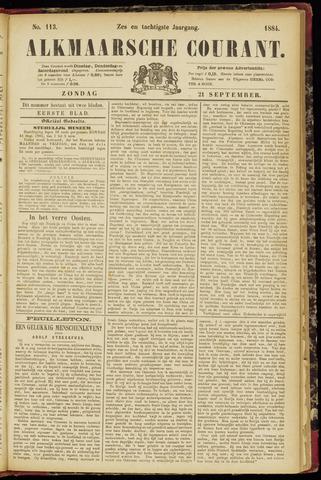Alkmaarsche Courant 1884-09-21