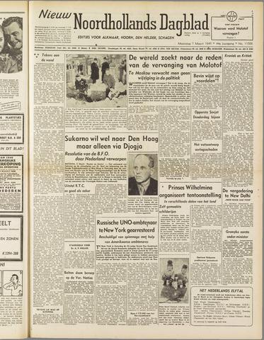 Nieuw Noordhollandsch Dagblad : voor Alkmaar en omgeving 1949-03-07
