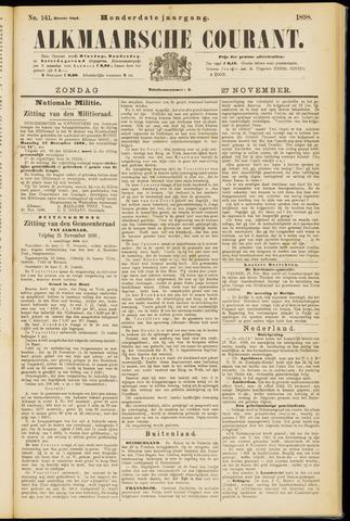Alkmaarsche Courant 1898-11-27