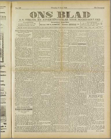Ons Blad : katholiek nieuwsblad voor N-H 1920-06-08