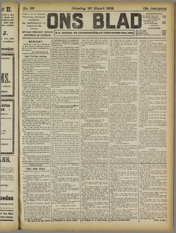 Ons Blad : katholiek nieuwsblad voor N-H 1918-03-26