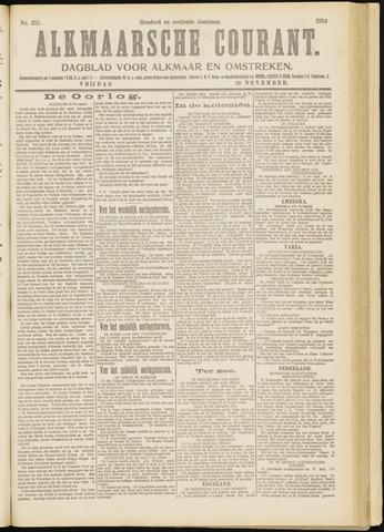 Alkmaarsche Courant 1914-11-20