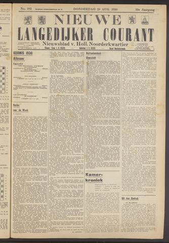 Nieuwe Langedijker Courant 1930-08-28