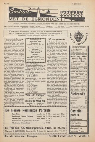 Contact met de Egmonden 1961-07-13