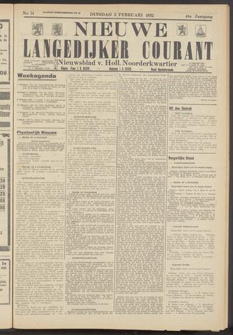 Nieuwe Langedijker Courant 1932-02-02