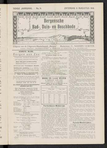 Bergensche bad-, duin- en boschbode 1919-08-09