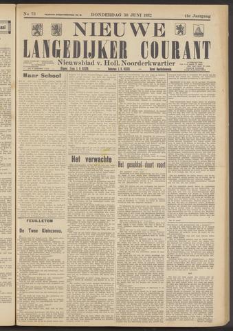 Nieuwe Langedijker Courant 1932-06-30
