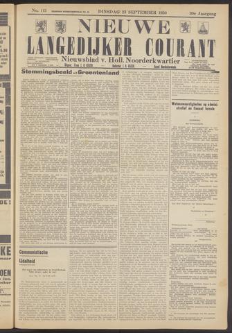 Nieuwe Langedijker Courant 1930-09-23
