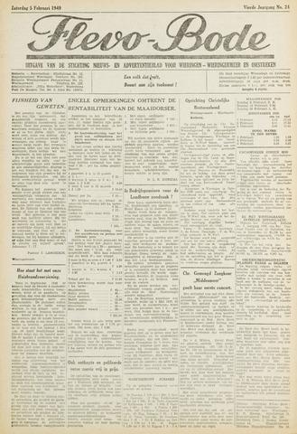 Flevo-bode: nieuwsblad voor Wieringen-Wieringermeer 1949-02-05