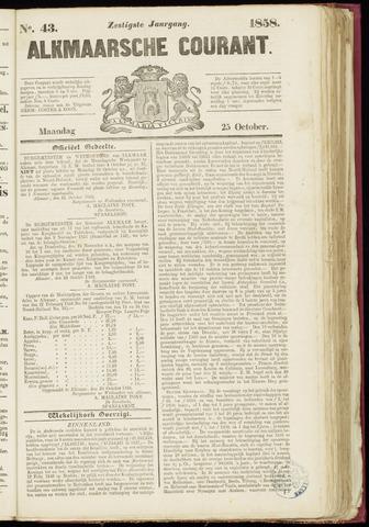 Alkmaarsche Courant 1858-10-25