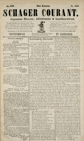 Schager Courant 1881-01-27