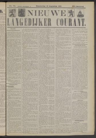 Nieuwe Langedijker Courant 1921-08-18