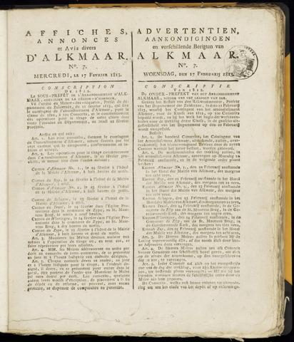 Alkmaarsche Courant 1813-02-17