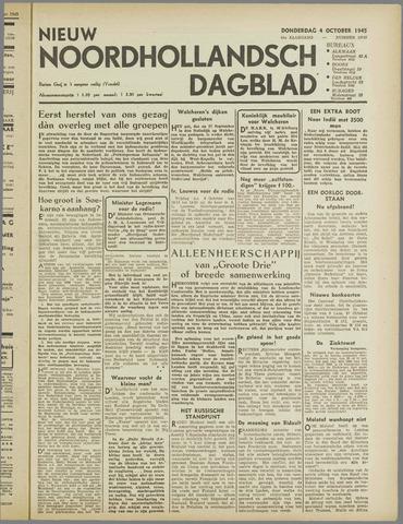 Nieuw Noordhollandsch Dagblad : voor Alkmaar en omgeving 1945-10-04