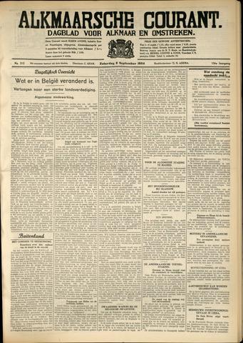 Alkmaarsche Courant 1934-09-08
