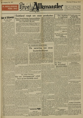 De Vrije Alkmaarder 1948-02-09