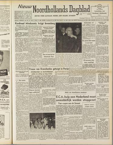 Nieuw Noordhollandsch Dagblad : voor Alkmaar en omgeving 1949-02-08