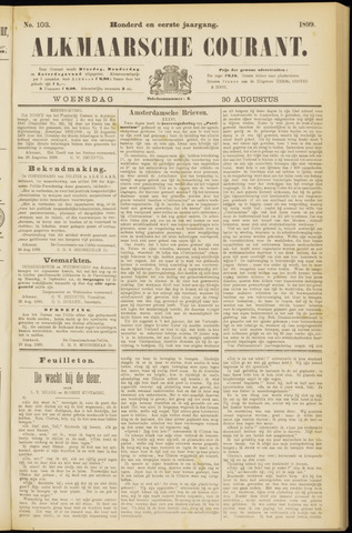 Alkmaarsche Courant 1899-08-30