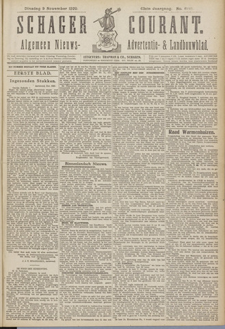 Schager Courant 1920-11-09