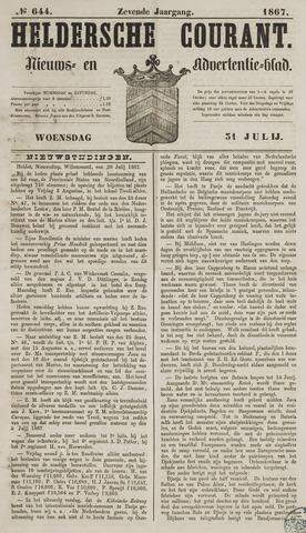Heldersche Courant 1867-07-31