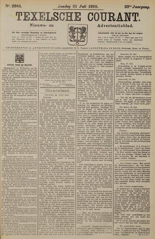 Texelsche Courant 1910-07-31