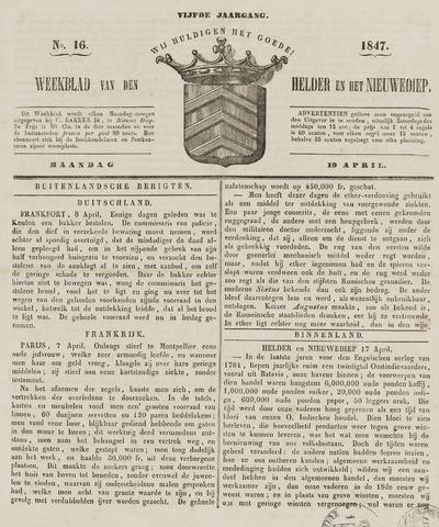 Weekblad van Den Helder en het Nieuwediep 1847-04-19
