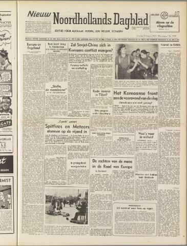 Nieuw Noordhollandsch Dagblad : voor Alkmaar en omgeving 1950-08-26