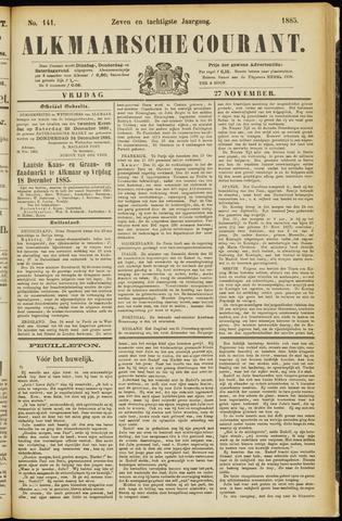 Alkmaarsche Courant 1885-11-27