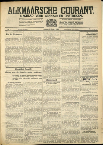 Alkmaarsche Courant 1933-03-31