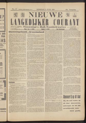 Nieuwe Langedijker Courant 1931-06-09