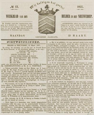 Weekblad van Den Helder en het Nieuwediep 1857-03-23