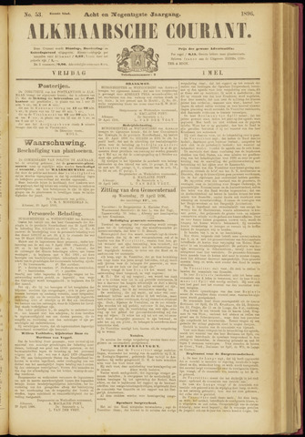 Alkmaarsche Courant 1896-05-01