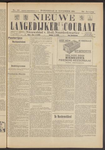 Nieuwe Langedijker Courant 1930-11-20