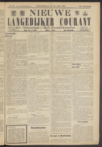 Nieuwe Langedijker Courant 1933-03-16