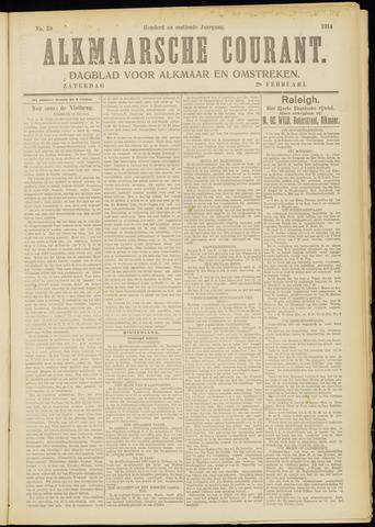 Alkmaarsche Courant 1914-02-28