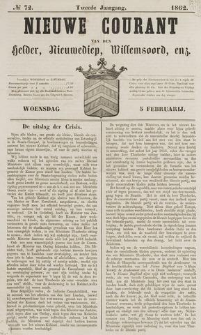 Nieuwe Courant van Den Helder 1862-02-05