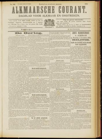 Alkmaarsche Courant 1915-10-13