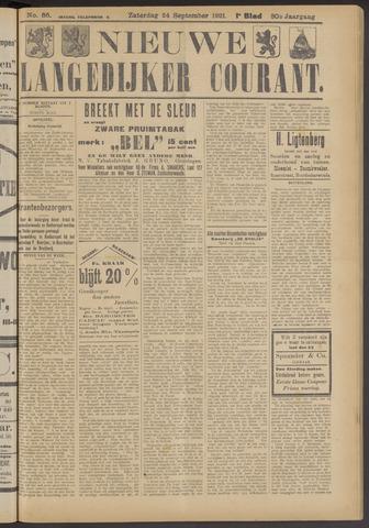 Nieuwe Langedijker Courant 1921-09-24