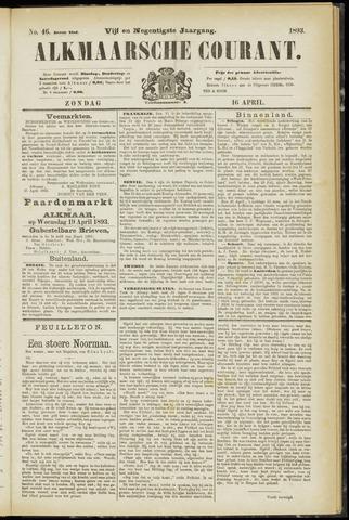 Alkmaarsche Courant 1893-04-16