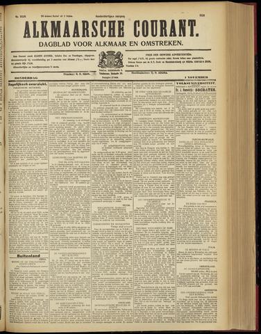 Alkmaarsche Courant 1928-11-01