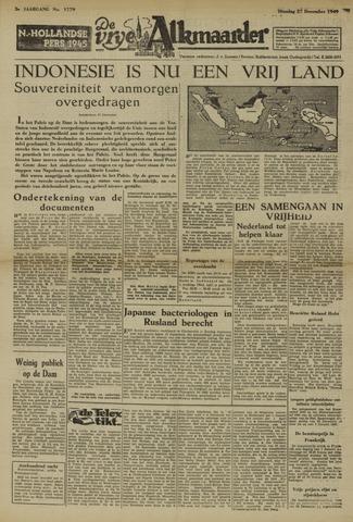 De Vrije Alkmaarder 1949-12-27