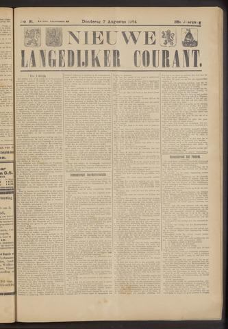 Nieuwe Langedijker Courant 1924-08-07