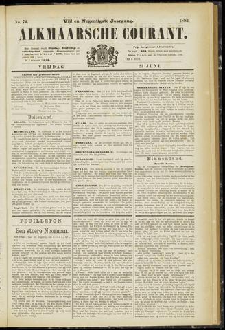 Alkmaarsche Courant 1893-06-23