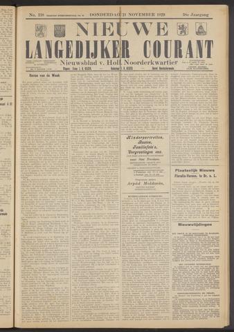 Nieuwe Langedijker Courant 1929-11-21
